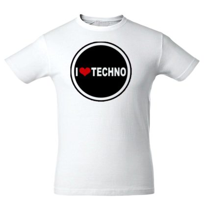 "Футболка ""I Love Techno"""
