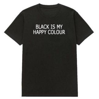 """Футболка """"Black is my happy colour"""""""