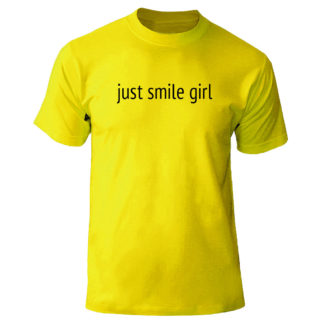 "Футболка ""just smile girl"""